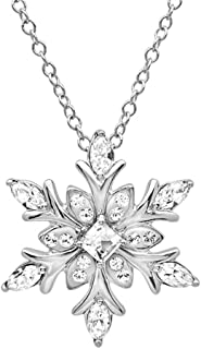 Sterling Silver Snowflake Pendant - Necklace with Swarovski Elements