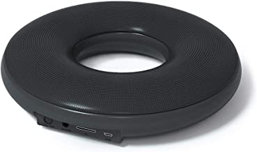 Donut-Shape Bluetooth Speakers - with Loud Stereo Sound, 12-Hour Playtime, 50 ft Bluetooth Range Portable Wireless Speaker Compatible with Phone, Tablet, TV and Gift Ideas (Black)