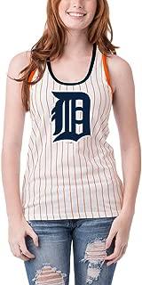 Detroit Tigers Women's Pinstripe Glitter Racerback Tank Top