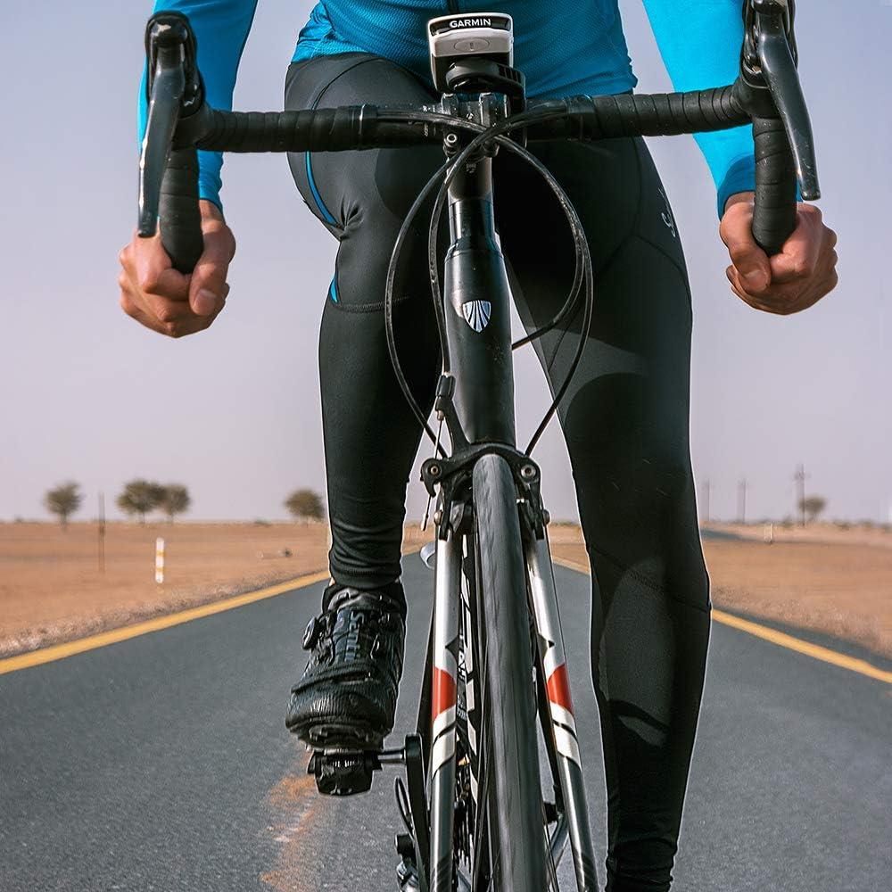 Santic Mens Cycling Bib Pants Padded Bicycle Breathable Long Tights for Men Compression Bike Riding Leggings