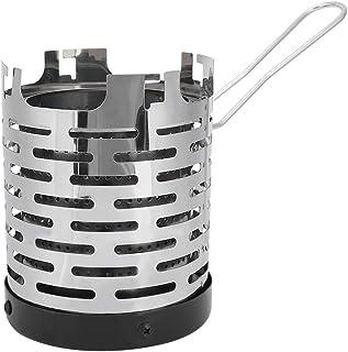 Fdit Mini spis värmeskydd rostfritt stål camping minivärmare bärbar värmande värmare skydd för utomhus backpacking vandring