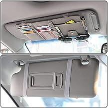 PTN 2 Packs Auto Interior Accessoires Pocket Organizer Auto Sonnenblende Organizer Karten Schwarz + Grau Ladeger/äte Sonnenbrillen Aufbewahrungstasche f/ür Mobiltelefone Bankkarten