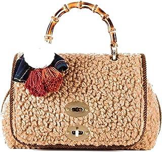 ViaMailBag Umhängetasche Modell Sophie aus Wolle Kamel mit Schultergurt Muster