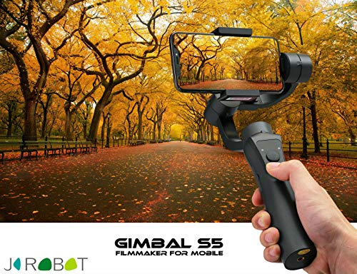 Swithun 3 Axis Gimbal stabilizer for Smartphone - Live Video Record with Bluetooth 4.1 Support - Phone Holder and Micro-USB I/O Supports Joystick