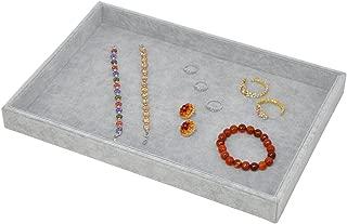 Stackable Ice Velvet Jewelry Tray Showcase Display Storage Organizer Functional