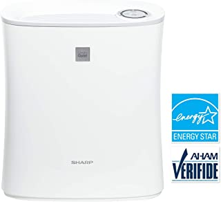 Sharp FPF30UH True HEPA Air Purifier for Home Office or Small Bedroom with Express Clean. Filters Last up-to 2 Years for Dust, Smoke, Pollen, Pet Dander, White, 143 Square Feet