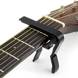 Basse Noir Debonice Capodastre de Guitare Alliage Capo de Guitare pour Guitare Acoustique /Électrique,Ukulele