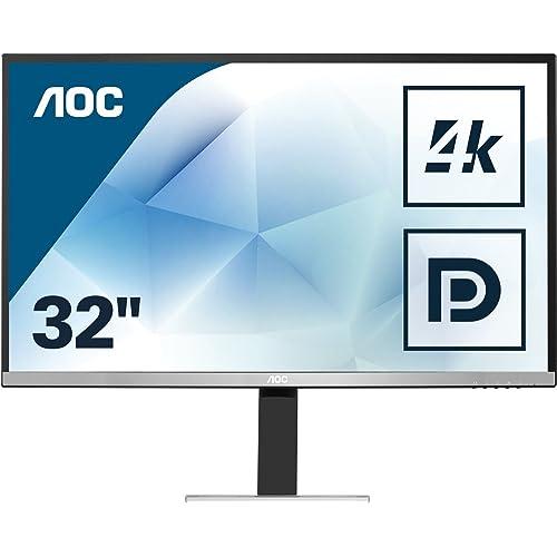 """AOC U3277FWQ 31.5"""" 4K Ultra HD MVA Mat Noir, Argent écran plat de PC - écrans plats de PC (3840 x 2160 pixels, LCD, 4K Ultra HD, MVA, Mat, 3840 x 2160)"""