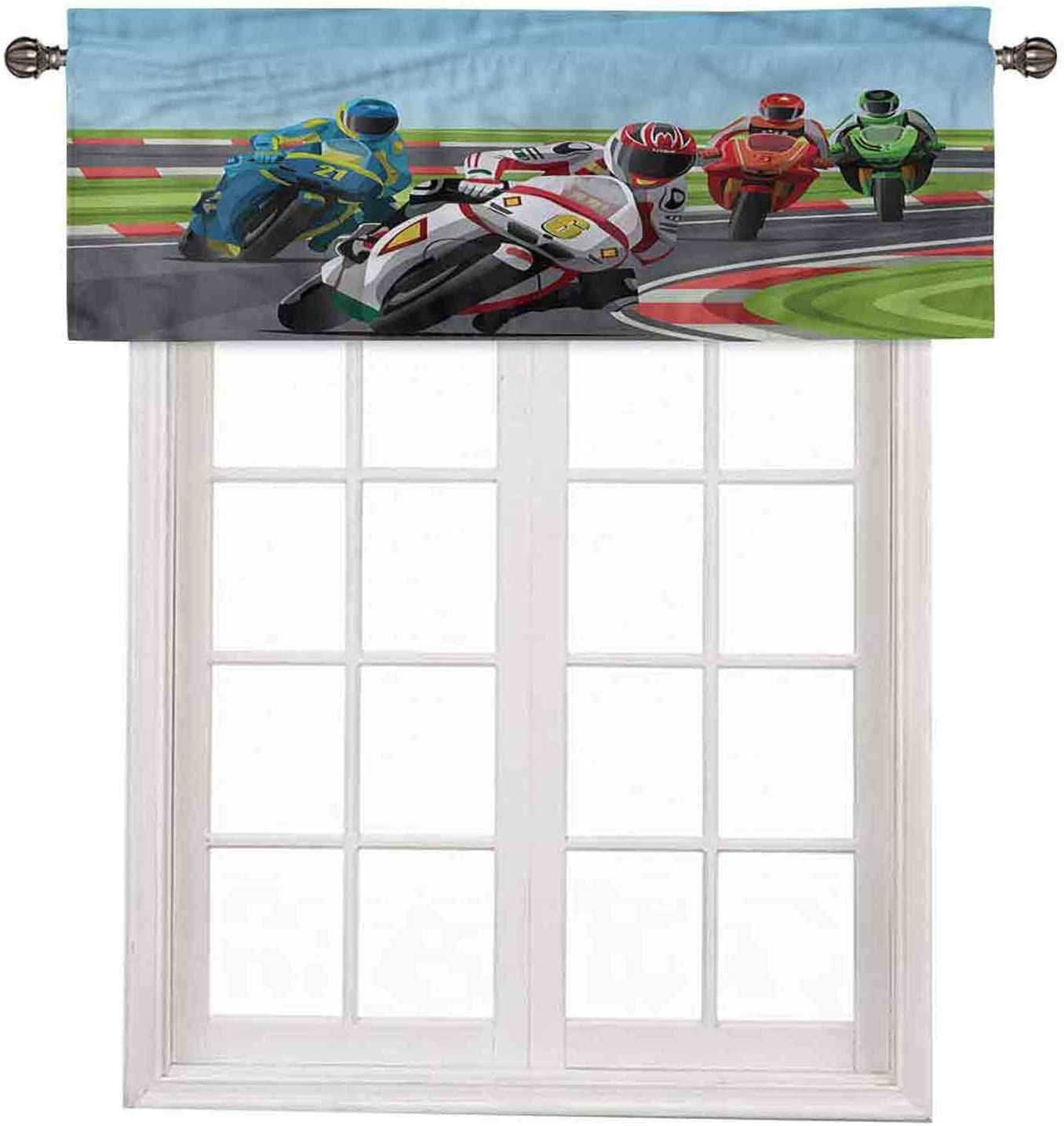 Motorcycle Curtian Drapes Valance Jacksonville Mall Trust Professional x In Racers42 18