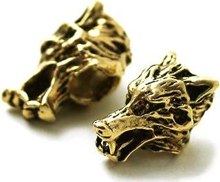LynnAround Bronze Norse Viking Wolf Beard Beads Rings, Dwarven Dreadlock Pirate Medieval Hair Beads, Pagan Jewelry