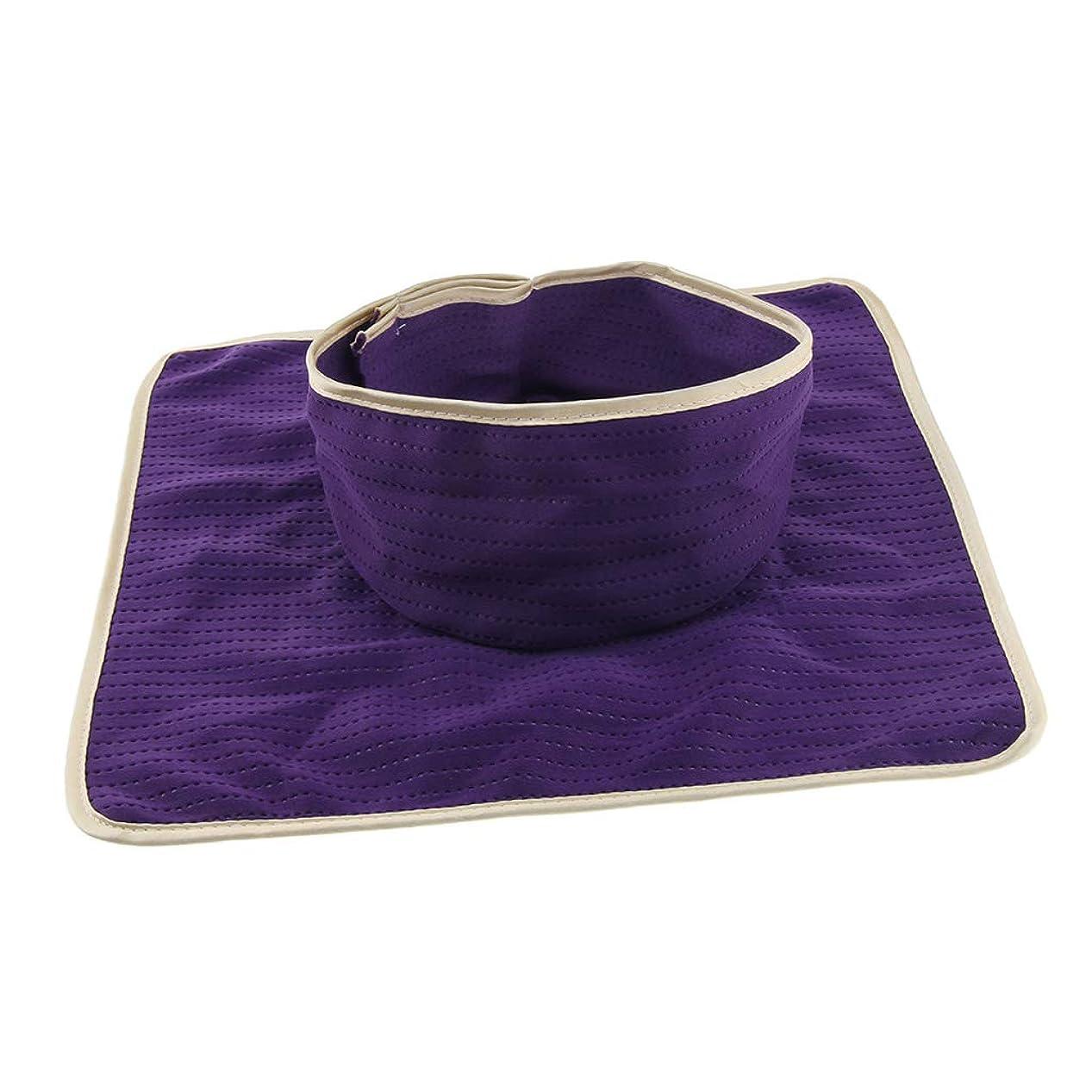 パテ満たす用語集Perfeclan マッサージ ベッドカバー シート パッド 洗濯可能 再利用可能 約35×35cm 全3色 - 紫