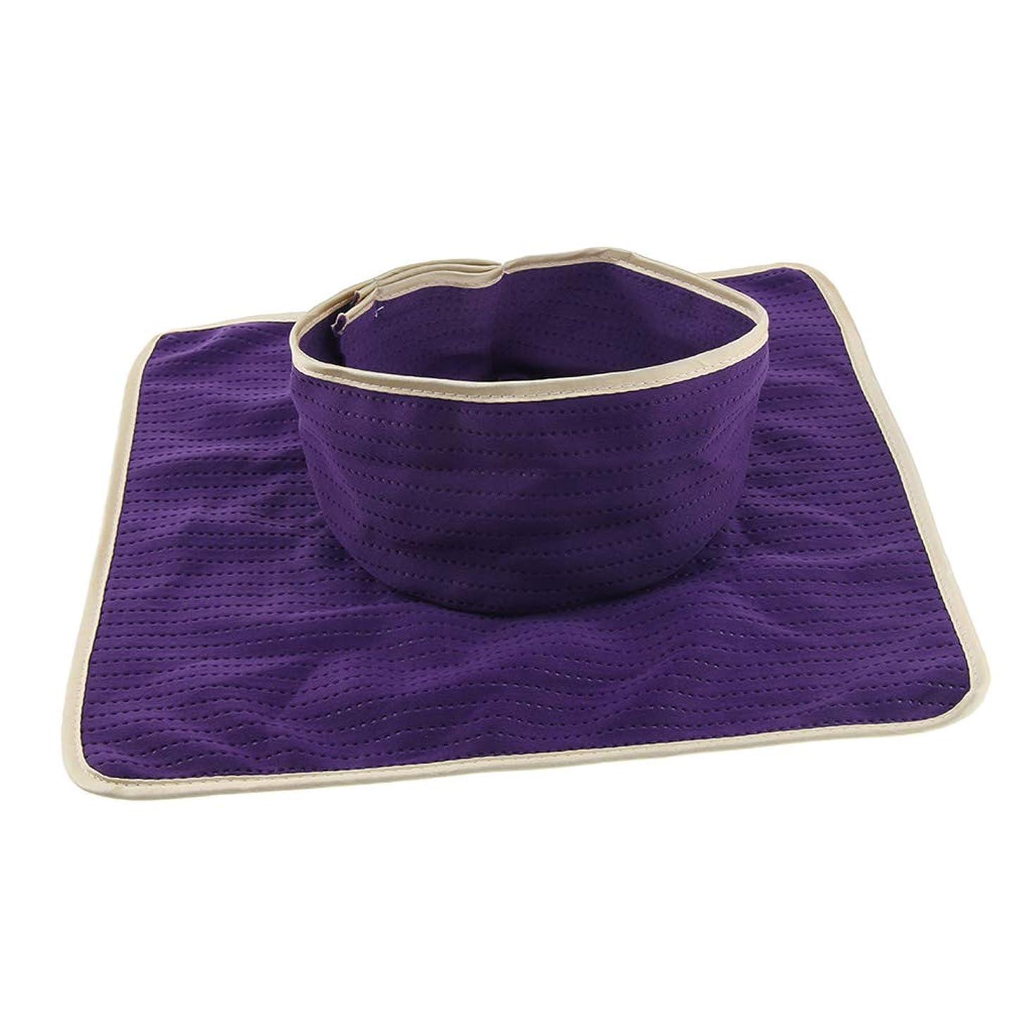 ハンドブック唇時間Perfeclan マッサージ ベッドカバー シート パッド 洗濯可能 再利用可能 約35×35cm 全3色 - 紫
