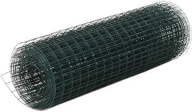 vidaXL Draadgaas 10x0,5 m Staal met PVC Coating Groen Kippengaas Metaalgaas