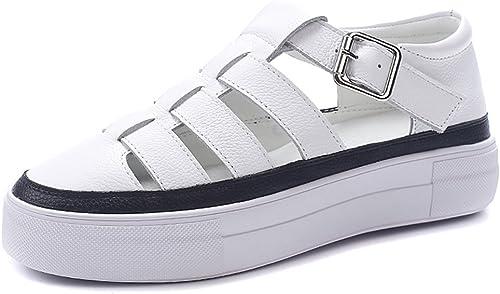 QIDI Chaussures Décontractées Femme Antidérapant Fond Plat à La Mode Chaussures Simples (Taille   EU37 UK4.5-5)
