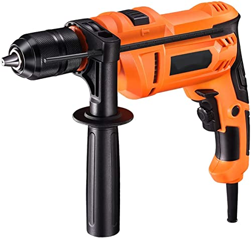 new arrival Hammer Drill 7.5Amp online sale 1/2 Inch Corded Drill, 3000 RPM 2 in 1 Mode Impact Drill with Adjustable Speed and Depth Gauge for Masonry, Steel, Concrete - high quality PID05A online sale