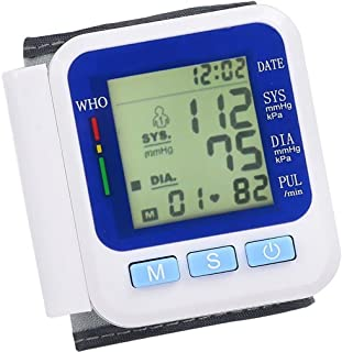 LPY-Wrist Blood Pressure Monitor, 2 Modes 99 Times Memory Tonometer Meter Auto Smart Digital Blood Pressure Monitor Health Care Sphygmomanometer For Measuring Pulse Rate