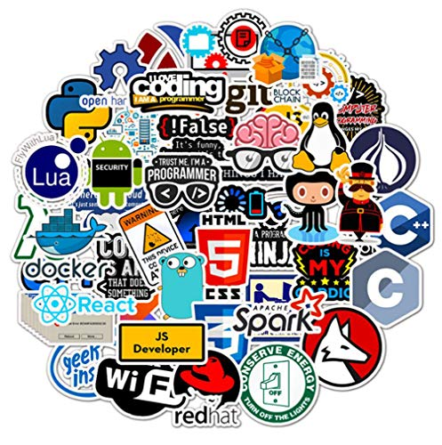 50 Stks Programmeren Sticker Pack Voor Laptop Koelkast Mobiele Telefoon Skateboard Reizen Koffer Waterdichte Sticker