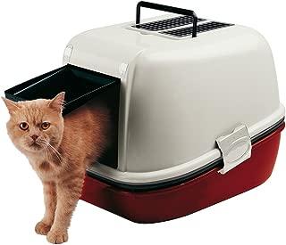 Ferplast Magix Cat Toilette Home, Burgundy