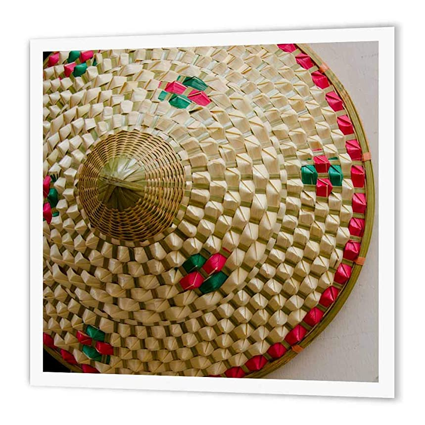 3dRose China, Shanghai. Village of Zhujiajiao. Traditional Chinese Straw Hat.-Iron on Heat Transfer, 10 by 10