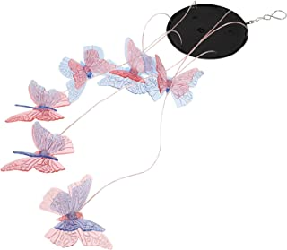 Lurrose LED Butterflies Solar Wind Chime Feng Shui Wind Bell Light Waterproof Color Changing Garden Lamp Hanging Courtyard...