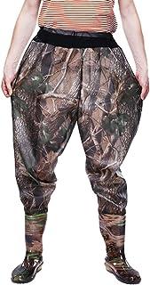 Xinwcang, Pantalón de Pesca para Hombre Impermeable Rain Pantalones de Moto, Botas Antideslizante Waders Pesca