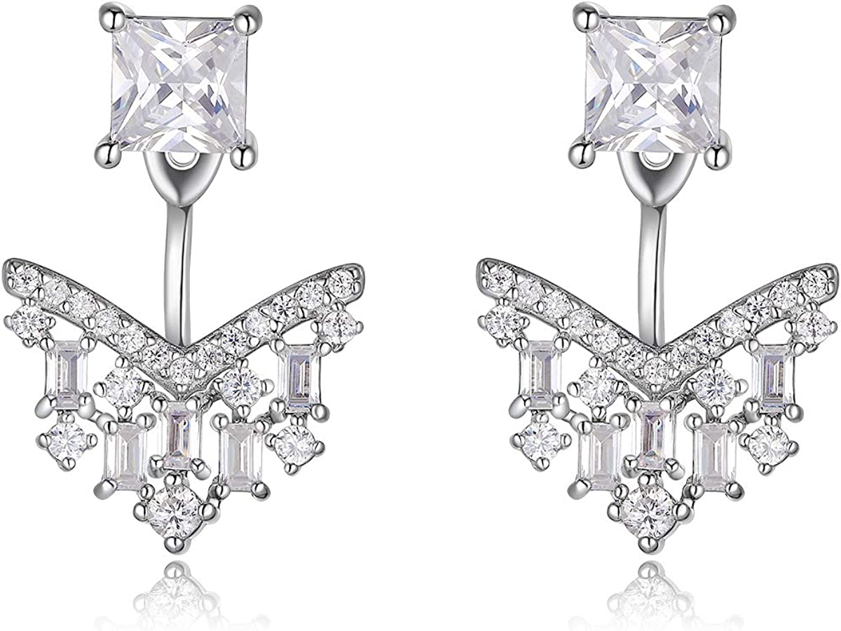 MISS MIMI Cubic Zirconia Bargain with Fashion Sale price Earrings Rhodium