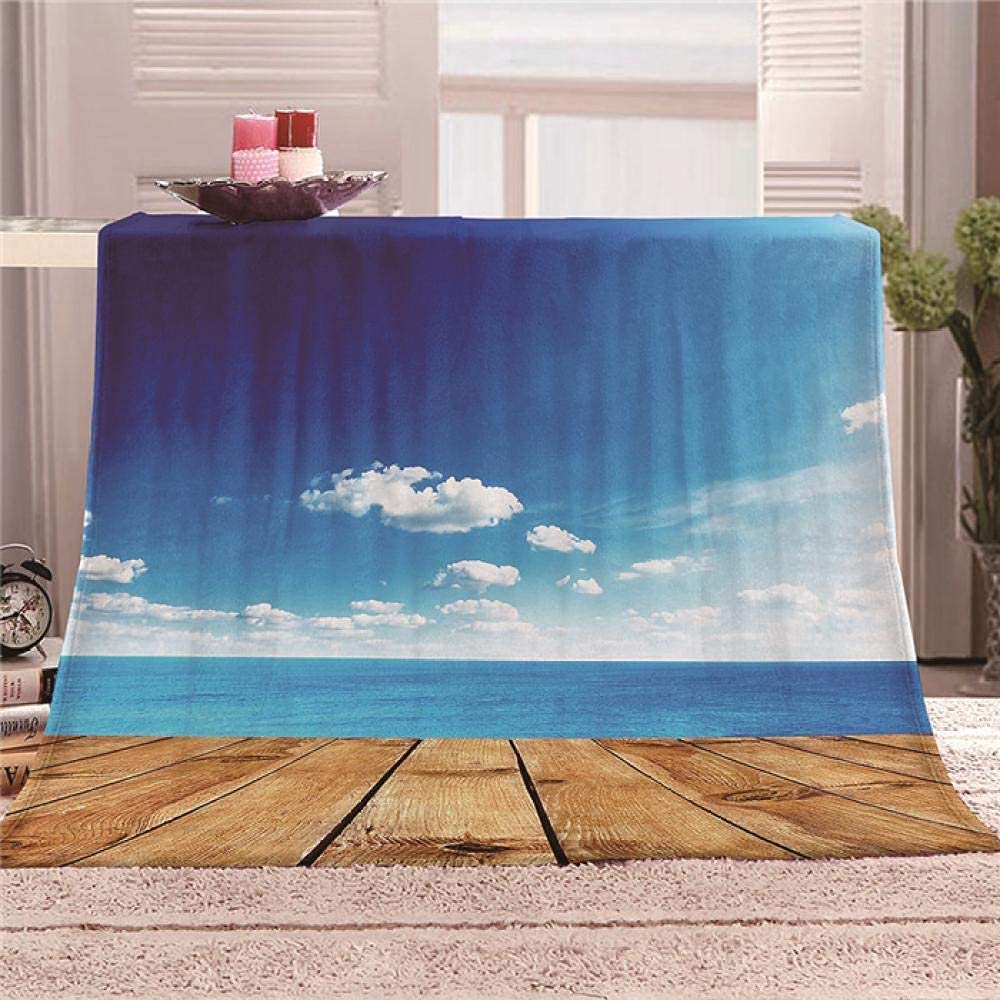 Fleece Blanket Soft Max 48% OFF Seattle Mall Sky Plank Plush for B Blankets Throw Couch