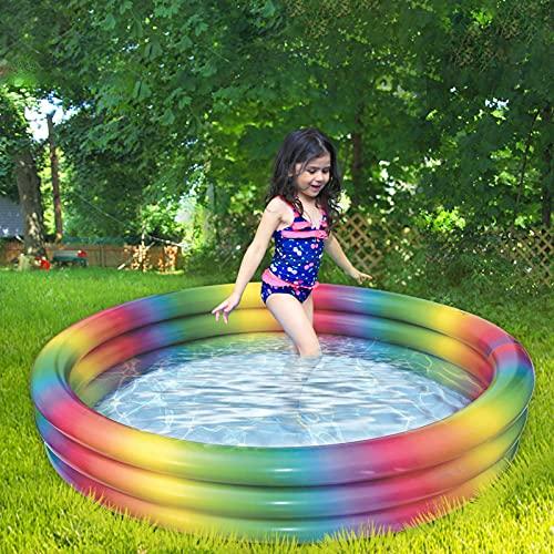 Bañera De Baño De Piscina Inflable para Niños Inflable Piscina Blow up Floused Kiddie Lounge Pool para Juguetes para Niños (Color : 90cm)