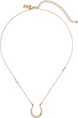Wild Ones Pave Horseshoe Mini Pendant Necklace