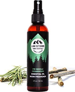 Natural Air Freshener - Fir Needle Cedarwood & Vanilla - Essential Oil Odor Eliminating Room Spray