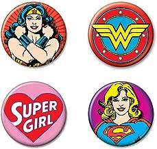 Ata-Boy DC Comics Originals Wonder Woman and Supergirl Set of 4 1.25