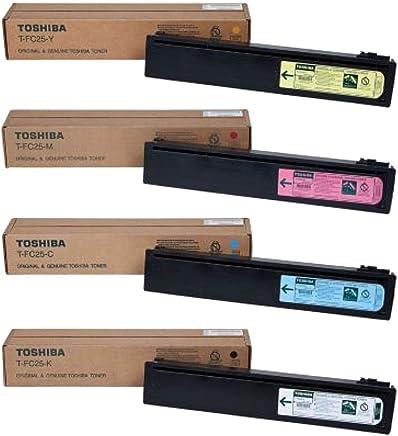 Toshiba TFC25K, TFC25C, TFC25M, TFC25Y Standard Yield Toner Cartridge Set