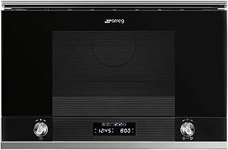 Smeg MP122N1 Mikrowelle mit integriertem Grill, 22 l, 850 W, Schwarz und Edelstahl