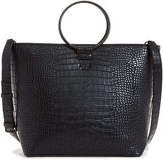 Keaton O-Ring Ladies Large Black Faux Leather Tote CB695823BLA
