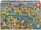 Educa - Mapa de París Puzzle, 500 Piezas, Multicolor (18452)