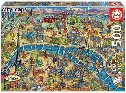 Educa Radira-kaart Parijs City Maps (18452)
