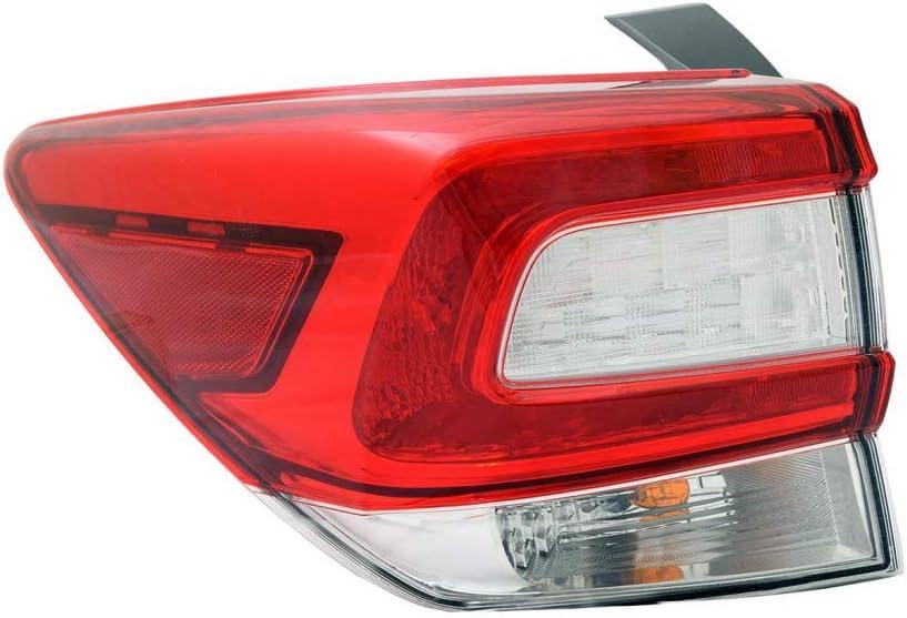 For 未使用 Subaru Impreza TailLight Assembly Side 2019 2018 Driver 卓抜 2017