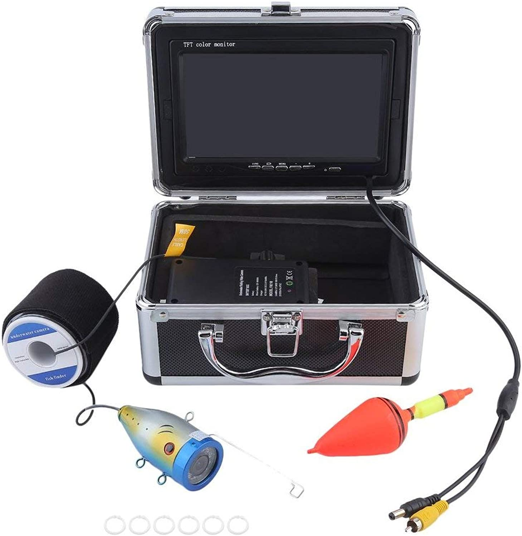 Professionelle Video Fischfinder 1000TVL Lichter steuerbar Unterwasserfischen Kamera Kit Siehe unter Wasser Video Fischfinder - Schwarz & Silber