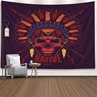Pamime College Wall Decor,Room Decor for Men American Vintage Style Original Vector Design Stickers Tshirts Tapestries Wall Hangings 80X60 Inches(200X150Cm) Inhouse,Wall Hanging Decor