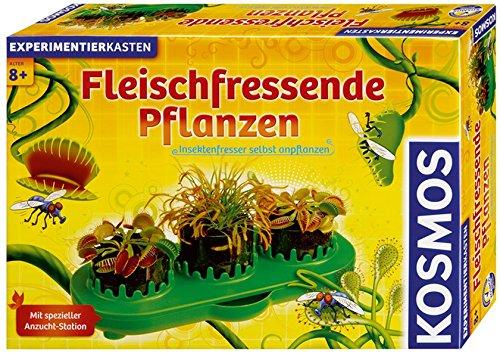 KOSMOS 631611 - Fleischfressende Pflanzen, Insektenfresser selbst anpflanzen, Komplett-Set Anzucht-Station, Samen, Erde, Pipette, Experimentierkasten für Kinder ab 8 Jahren zu Garten, Biologie, Natur