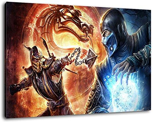 Dark Mortal Kombat Format 80x60 cmfertig gerahmte Kunstdruckbilder als Wandbild - Billiger als Ölbild oder Gemälde - KEIN Poster oder Plakat