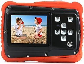 Kids Digital Camera Waterproof to 3 Meters HD Video Recorder and 5 Mega Pixels Shockproof Childrens Camera (Orange)