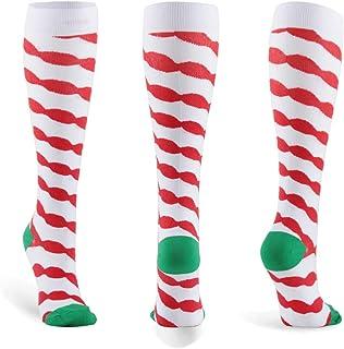 HLTPRO 20-30 mmHg Compression Socks Women & Men - Compression Stockings for Running, Nurse, Flight, Travel