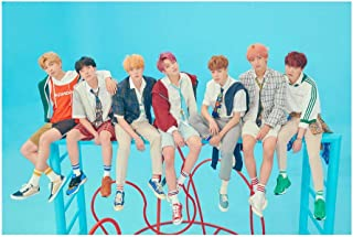Teblacker BTS Poster, Kpop Bangtan Boys [Love Yourself 結 Answer] Jungkook Jimin V Suga Jin J-Hope Rap Monster Wall Decoration, Best Gift for The Army (Style 25)