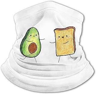 Avocado Toast Friends - Pasamontañas para el cuello con protección UV, resistente al viento, multifunción, para niños y niñas
