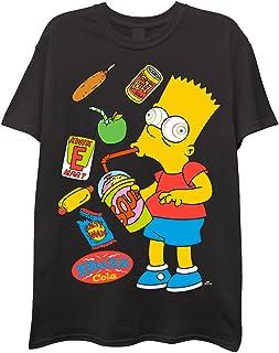 The Simpsons Mens Short Sleeve T-Shirt - Bart Simpson Mens Short Sleeve T-Shirt