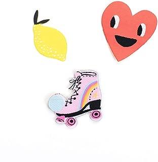 Ohh Deer Heart Lemon And Roller Skate Patch Set (Set Of 3)