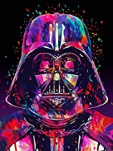 Diamond Painting by Number Kits 5D Full Drills Space Stars War Pattern, Round Diamond Embroidery Cross Stitch Home Wall Decor Arts Craft 14 x 20 inch(SW01)