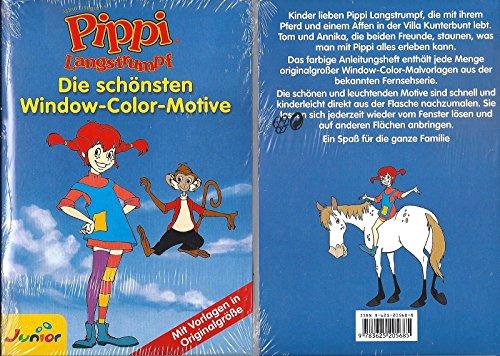 PIPPI LANGSTRUMPF - Die schönsten Window-Color-Motive - mit Vorlagen in Originalgröße -