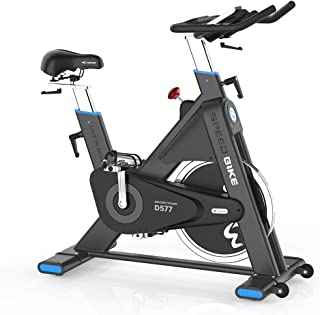 pooboo Pro Belt Drive Exercise Bike Stationary, Indoor Cycling Bike Trainer High Weight Capacity, Heavy Duty Flywheel with Commercial Standard by